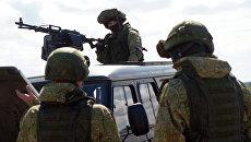 Военные учения на военном полигоне Рощинский. Архивное фото