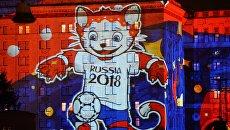 Представление кандидата на звание официального Талисмана Чемпионата мира по футболу FIFA 2018 на фестивале Круг Света в Москве