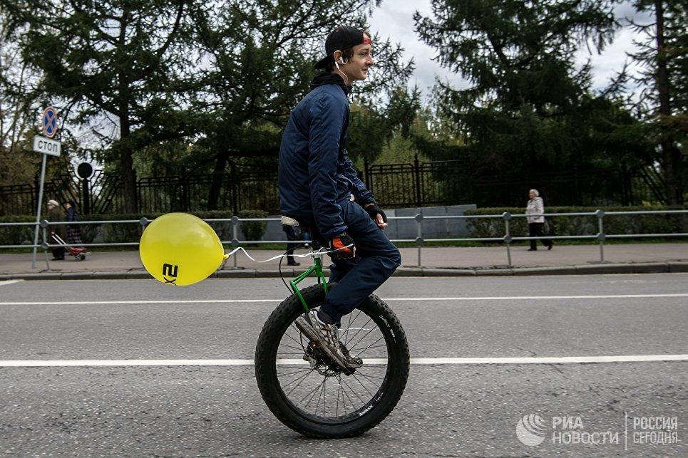Участник XI Московского осеннего велопарада - 2016