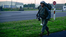 Американский военнослужащий на военной базе в Германии. Архивное фото