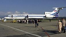 Самолет Ту-154 авиакомпании Сибирь, аналогичный сбитому украинскими военными над Черным морем в 2001 году