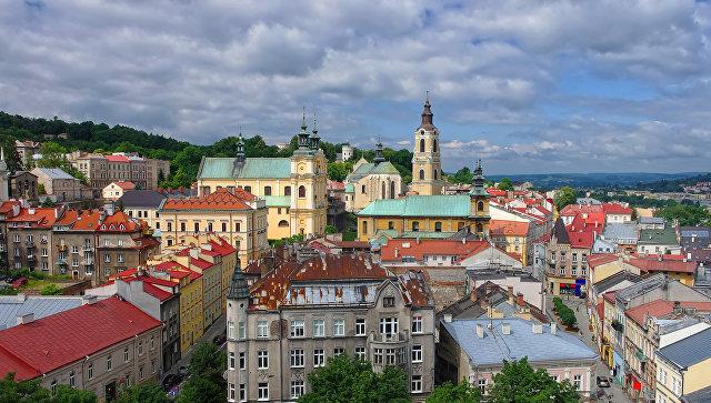 Вид на город Пшемысль, Польша. Архивное фото