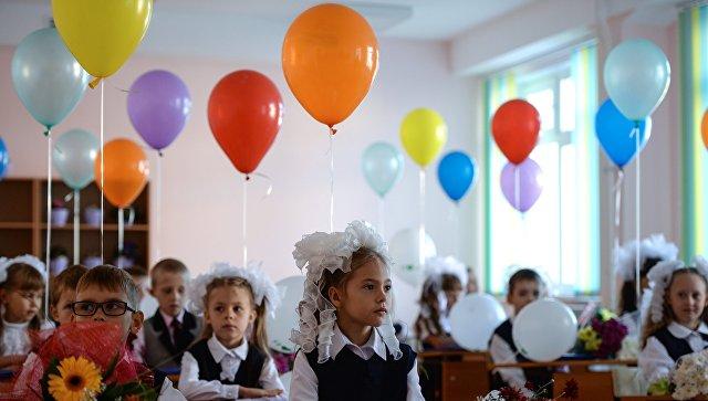Начало учебного года в школах России. Архивное фото.