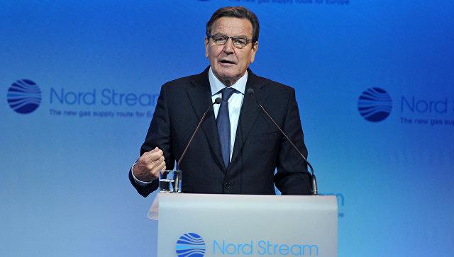 Главой Nord Stream 2 назначен экс-канцлер Германии Герхард Шрёдер