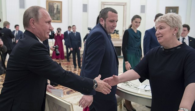 Путин навстрече сучителями процитировал налатинском приветствие гладиаторов