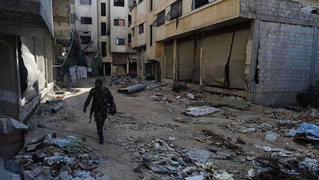 Бойцы САА в пригороде Дамаска Дарайе. Архивное фото