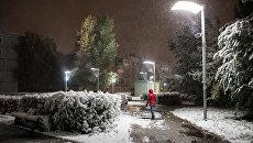Первый снег. Архивное фото