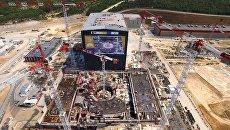 Площадка строительства термоядерного реактора ИТЭР во Франции. Архивное фото