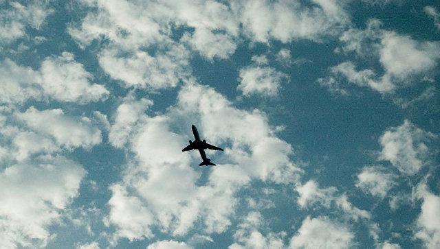 Самолет в небе. Архивное фото
