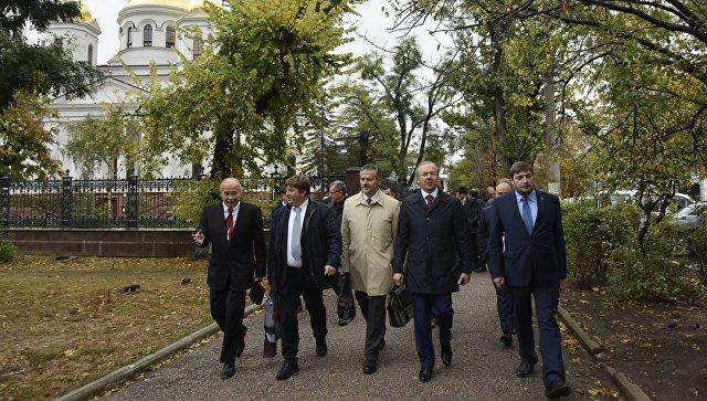 Депутаты региональных советов и представители делового сообщества Италии в Симферополе