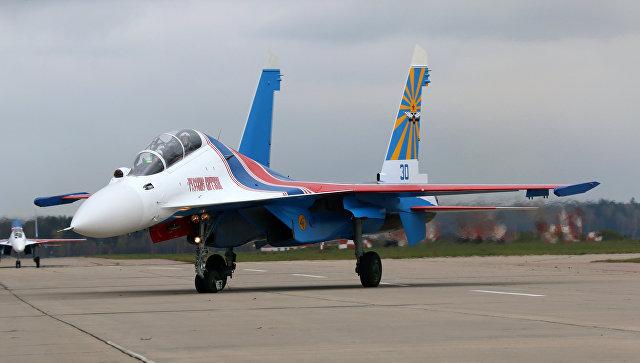 Внебе над Кемеровом пролетели «Русские витязи»