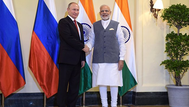 Визит президента РФ Владимира Путина в Республику Индию