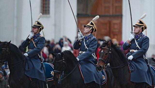 14октября состоится заключительная церемония развода пеших иконных караулов Президентского полка