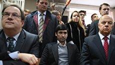 Сын вице-президента Лукойла Руслан Шамсуаров, обвиняемый в угрозе применения насилия в отношении представителя власти и оскорблении представителя власти, во время оглашения приговора в Гагаринском суде Москвы. Архивное фото