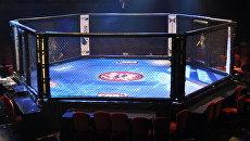 Клетка для проведения боев MMA. Архивное фото