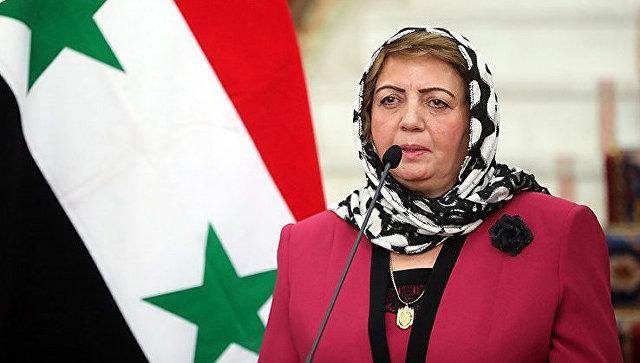 Председатель парламента Сирии Хадия Аббас