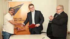 Подписание соглашения о сотрудничестве и обмене контентом между информационным агентством и радио Sputnik и крупнейшим информационным агентством Индии IANS