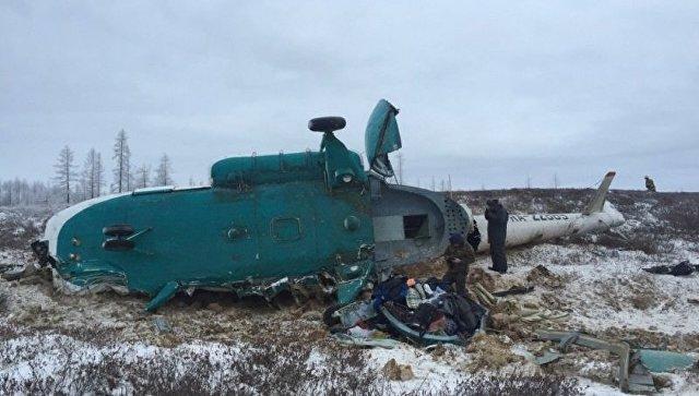 Названа основная версия крушения вертолета Ми-8 наЯмале