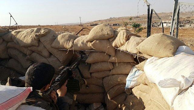 Боец сирийской армии на высоте, где расположена воинская часть ПВО на юге Алеппо. Архивное фото