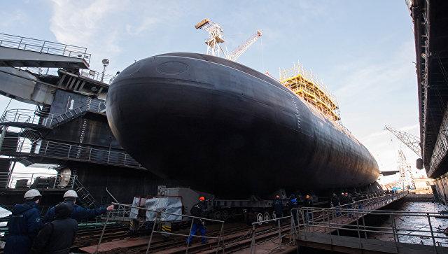 Подводная лодка Великий Новгород проекта 636 для Черноморского флота ВМФ России на АО Адмиралтейские верфи в Санкт-Петербурге