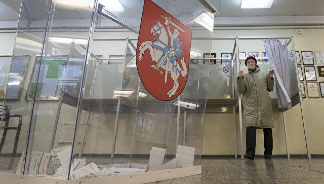 Избирательный участок в Вильнюсе