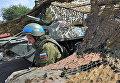 Блокпост российских миротворцев на въезде в город Бендеры