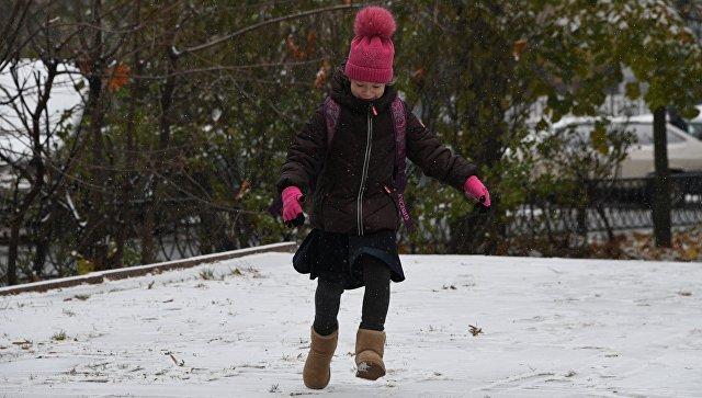 Снежный покров в российской столице увеличился до 5-ти сантиметров