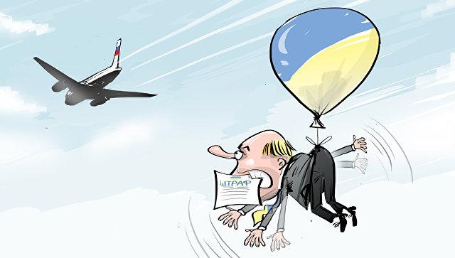 «МКС оштрафовать забыли»: суд в Киеве оштрафовал российскую авиакомпанию за полеты над Крымом. Улетай, туча