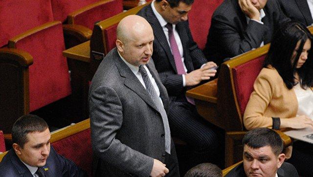 Лидер фракции Народный фронт Александр Турчинов. Архивное фото