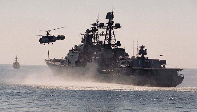 «Адмирал Трибуц» вышел вморе для отработки тактических задач