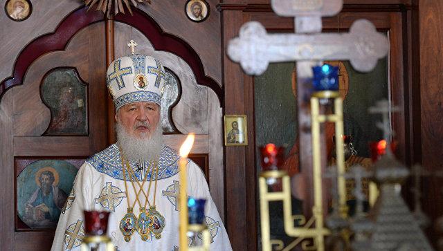 Патриарх Московский и всея Руси Кирилл в Покровском храме в Асунсьоне. Архивное фото
