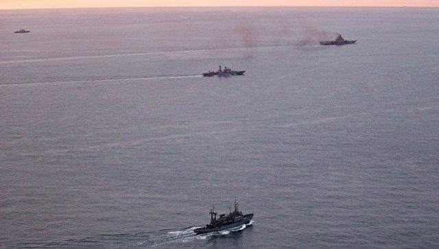 Авианосная группа Северного флота России. Архивное фото
