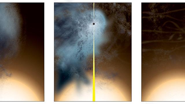 Ученые сняли навидео «выброшенную» изгалактик сверхмассивную черную дыру