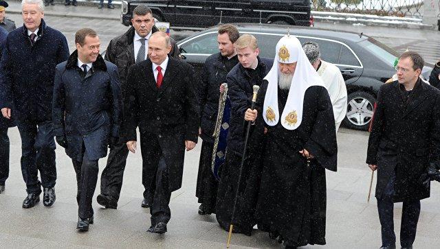 Путин осмотрел выставку «Россия. Моя история»