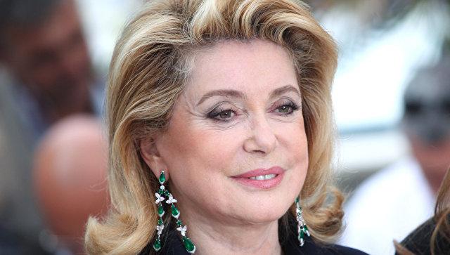 Французская актриса Катрин Денев