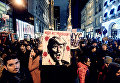 Акция протеста против избрания Дональда Трампа президентом США в Нью-Йорке