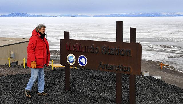 Керри обнародовал фото изАнтарктиды в обоснование глобального изменения климата