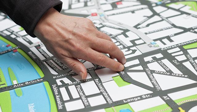 Тактильная карта. Архивное фото