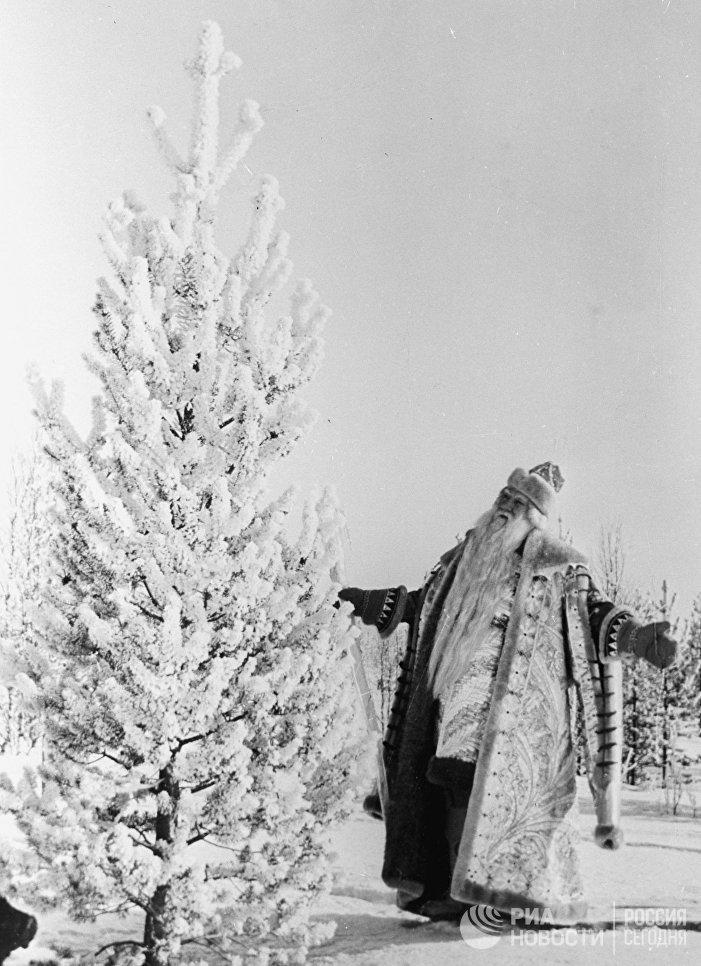 Александр Хвыля в роли дедушки Морозко в фильме Морозко, 1965 год