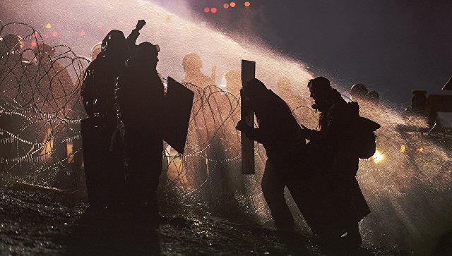 ВСША произошли столкновения устроящегося нефтепровода