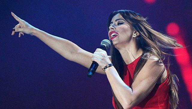 Певица Ани Лорак на XXI Церемонии вручения национальной музыкальной премии Золотой Граммофон