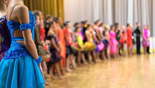 Школа бальных танцев. Архивное фото