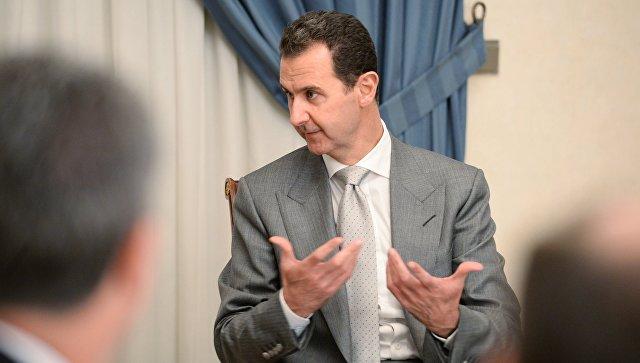 Президент Сирии Башар Асад в Дамаске. Архивное фото