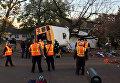 Место аварии школьного автобуса в американском городе Чаттануга