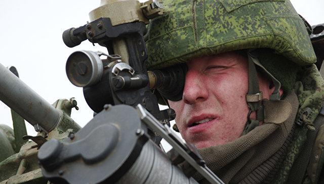 Военнослужащий ПВО РФ. Архивное фото