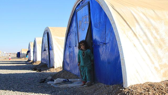 Лагерь беженцев из Мосула. Архивное фото