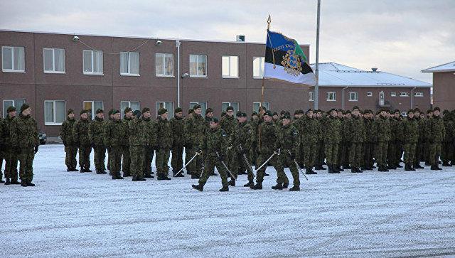 Смена командующего батальона саперов Сил обороны Эстонии