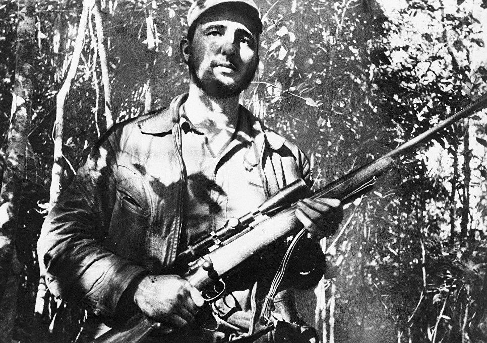 Лидер кубинской революции Фидель Кастро. 26 февраля 1957
