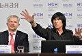 Дидье Маруани и его адвокат Игорь Трунов на пресс-конференции. 30 ноября 2016