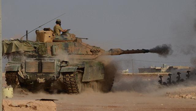 Турецкие войска при содействии отрядов так называемой Сирийской свободной армии проводят на севере Сирии операцию Щит Евфрата. Архивное фото